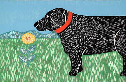 Nature Walk-Good Dog - Medium Woodcut