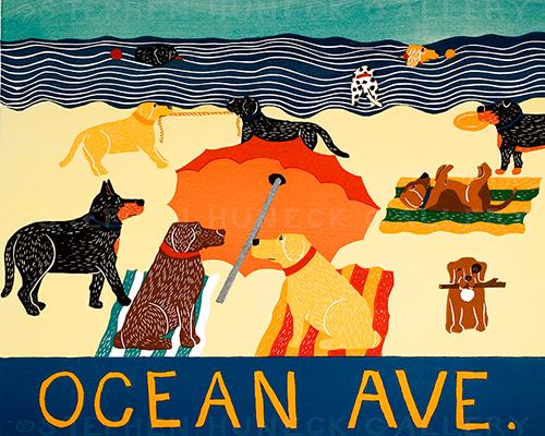 Ocean Ave. - Giclee Print