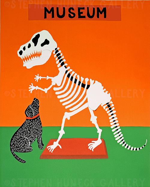 Paleontologist - Original Woodcut