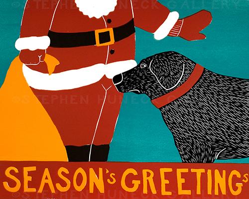 Season's Greetings - Original Woodcut