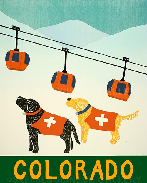 Ski Patrol-Colorado - Giclee Print