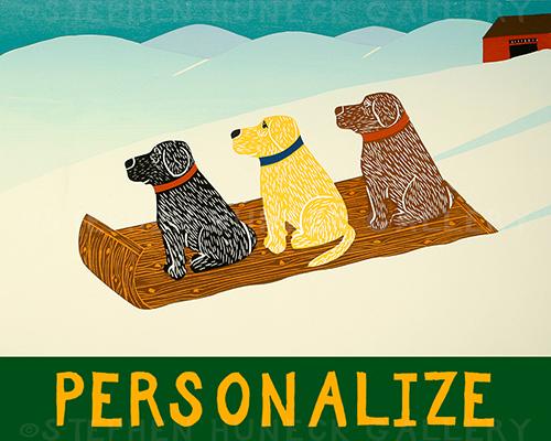 Sled Dogs - Customizable Giclee Print