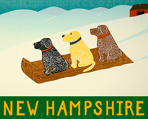 Sled Dogs-New Hampshire - Giclee Print