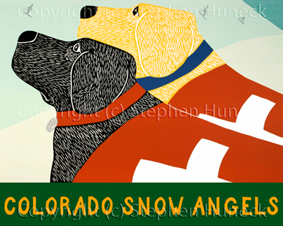 Snow Angels-Colorado - Giclee