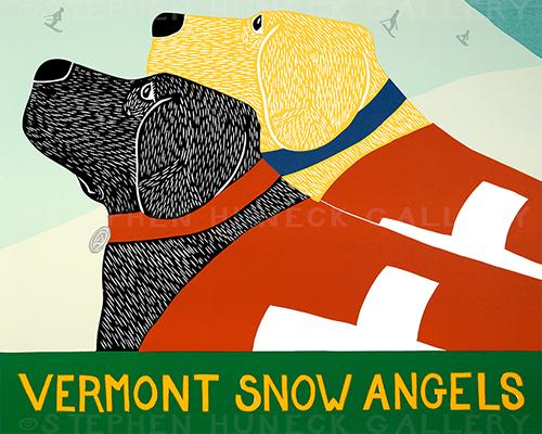 Snow Angels-Vermont - Original Woodcut