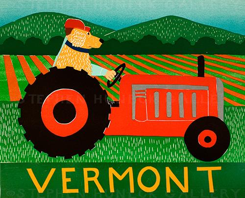 Tractor-Vermont - Giclee Print