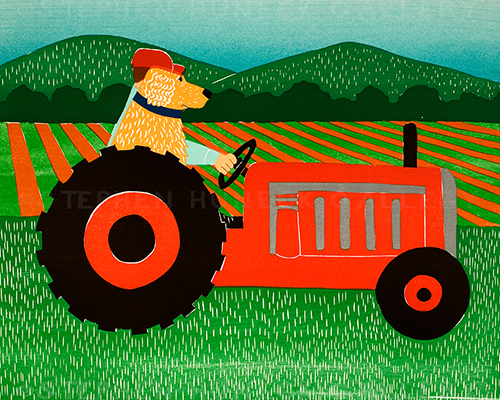 The Tractor - Giclee Print
