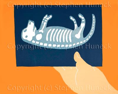 X-Ray - Woodcut
