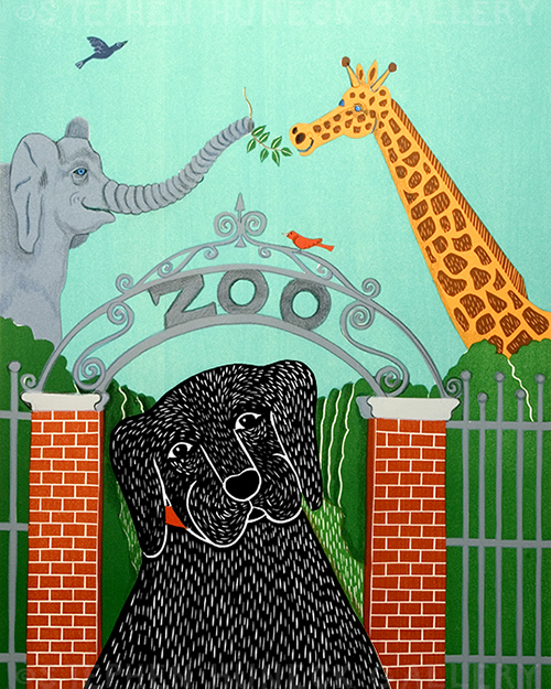 Zoo - Original Woodcut
