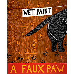 A Faux Paw - Original Woodcut