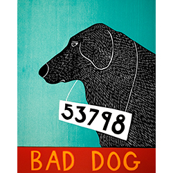 Bad Dog 53798 - Giclee Print