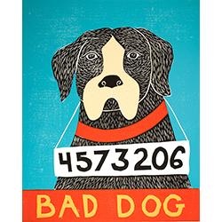 Bad Dog-Boxer - Giclee Print