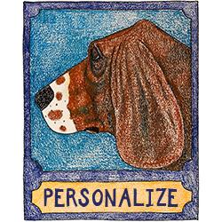 Basset Hound - Customizable Crayon Print
