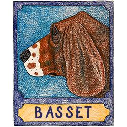 Basset Hound - Crayon Print