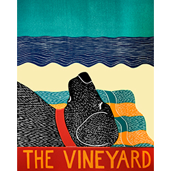 Beach Dog-The Vineyard - Original Woodcut