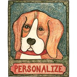 Beagle - Customizable Crayon Print