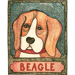 Beagle - Crayon Print