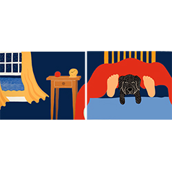 Bed Time - Diptych Print