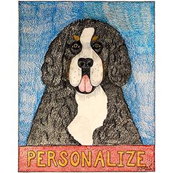 Bernese Mountain Dog - Customizable Crayon Giclee