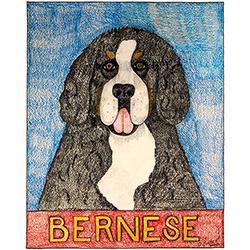 Bernese Mountain Dog - Crayon Print