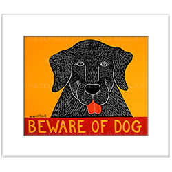 Beware of Dog - Transparent Giclee