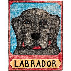 Black Lab - Crayon Print