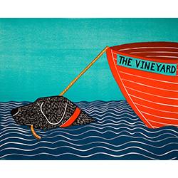 Boat-The Vineyard - Original Woodcut