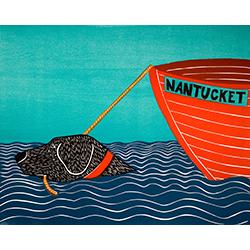 Boat-Nantucket - Original Woodcut