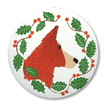 Border Collie - Holiday Ornament Round