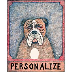 Bulldog - Customizable Crayon Print