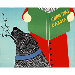 Christmas Carols - Original Woodcut