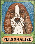 Spaniel - Customizable  Crayon Giclee