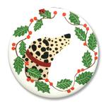 Dalmatian - Holiday Ornament Round