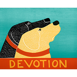 Devotion - Original Woodcut