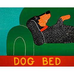 Dog Bed-Dachshund - Original Woodcut
