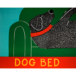 Dog Bed - Original Woodcut