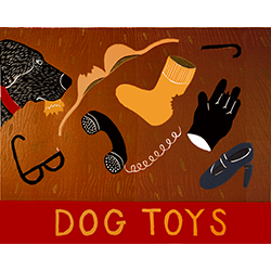 Dog Toys (Bad Dog) - Original Woodcut
