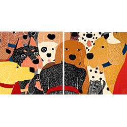 Dog Meeting - Diptych Print