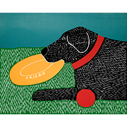 Dog Toys (Good Dog) - Original Woodcut