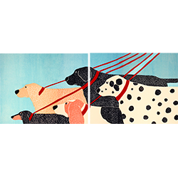 Dog Walker - Diptych Print