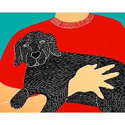 Dogs Can Heal a Broken Heart - Giclee Print
