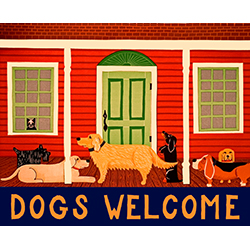 Dogs Welcome II - Giclee Print