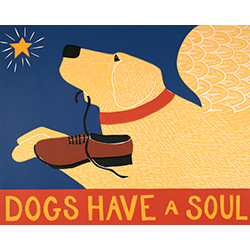 Dogs Have a Soul - Original Woodcut
