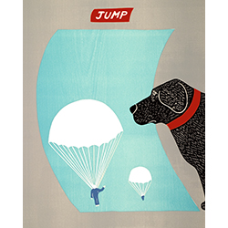 Dogs Are Trusting but Not Stupid - Original Woodcut