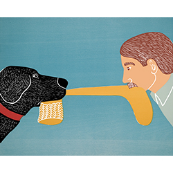Dogs Bring Out Your Inner Child - Original Woodcut
