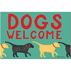 Dogs Welcome - Mat