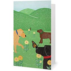 Flowers & Butterflies - Card