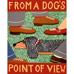 From a Dog's Point of View - Original Woodcut