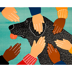 Getting Petted - Giclee Print