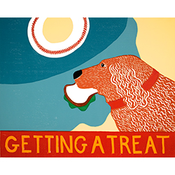 Getting a Treat-Sandwich - Original Woodcut